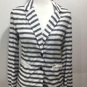 GAP Lightweight Striped Blazer Jacket Size S NWT